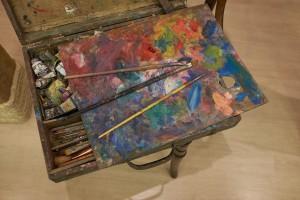 Antanas liutkus painting material