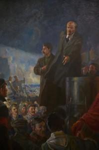 in grutas park propaganda painting
